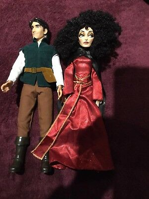 Disney Store Classic Mother Gothel Doll And Flynn Rider Doll