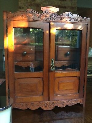 Antique Edwardian Mahogany Smokers Cabinet Vintage Excellent Condition