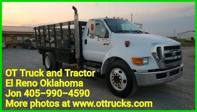 2006 Ford F-650 F650 Flatbed 182in WB Stake Bed Flatbed Truck Cat C7 210hp 6spd