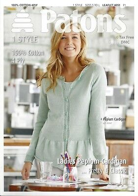 Vat Free Knitting Pattern Only Patons Women S Lady S Easy Aran Coat