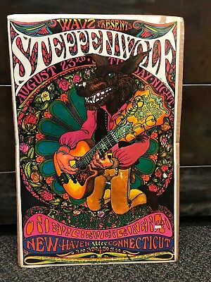 ORIGINAL 1969 STEPPENWOLF CONCERT POSTER NEW HAVEN CT 1969 Rock & Roll Handbill
