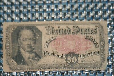 1875 Fifth Issue 50 Cents Fractional Currency-BUST OF WILLIAM H. CRAWFORD