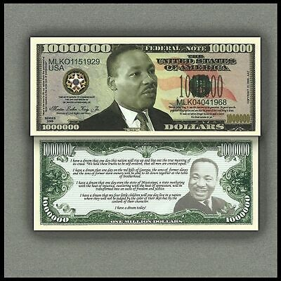 Martin Luther King Million Dollar Novelty Bill Money