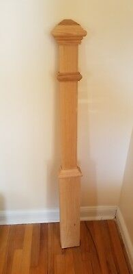 Newel Half-Post; Red Oak