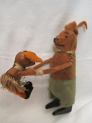 Schuco Tanzfigur Hase mit Kind Made in Germany um 1930