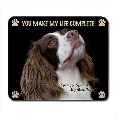 ENGLISH SPRINGER SPANIEL MOUSE PAD Rubber Mat Dog Portrait Art Memorial Gifts