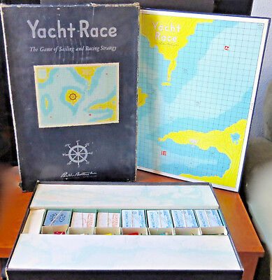 Vintage 1961 YACHT RACE GAME by PARKER BROTHERS - 21-5/8x28 BOARD GAME COMPLETE