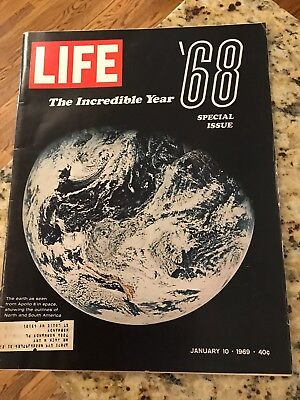 Life Magazine Vintage January 10,1969 Special Issue Incredible Year 1968 Apollo