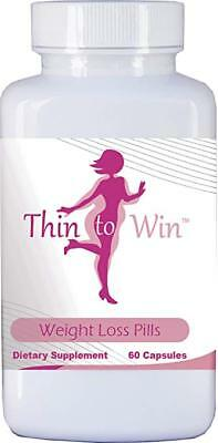 Thin to Win Weight Loss Pills 60 Capsules - Diet Pills That Work Fast for Women