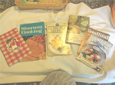 5 Pieces Old Cookbooks Booklets Good Food Magazine Shortcut cooking Vintage WOW