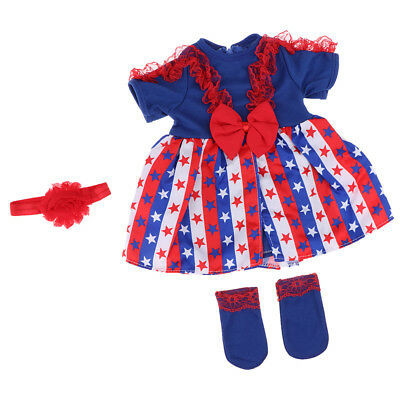 20-22in Reborn Girl Doll Clothes Newborn Clothing Suit Doll Accessory -4pcs