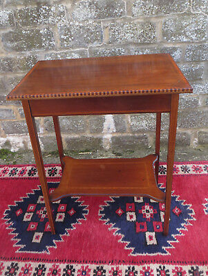 Edwardian Style 2 Tier Occasional Table - Inlaid Detail - Lamp / Telephone ? A/F