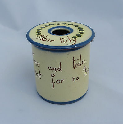 Watcombe Torquay Motto Ware - Hair Tidy - Scandy - Time and Tide wait for no man