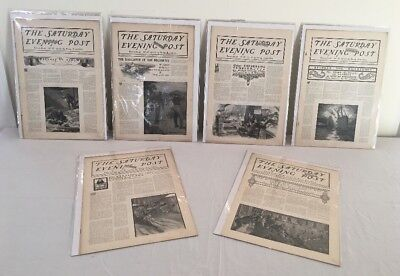 Antique 1899 The Saturday Evening Post (6) Magazine Lot January - March Rare