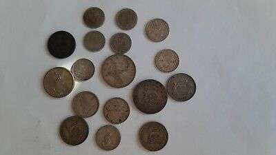 Lot of 17 silver foreign coins