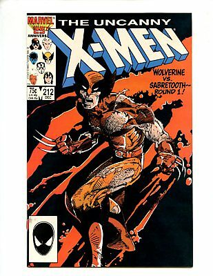X-Men #212 (1986) vs Sabretooth High Grade NM- 9.2