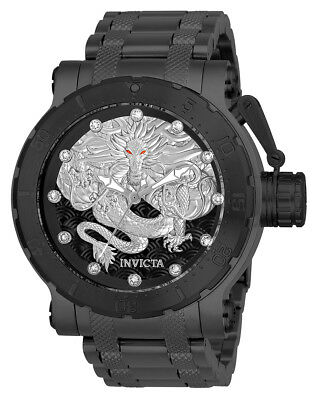 Invicta Men's 26512 Coalition Forces Automatic 3 Hand Black, Silver Dial  Watch