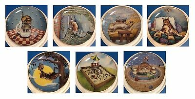 Lot of 7 Cat Collector Plates GARY PATTERSON Comical Cats Danbury Mint