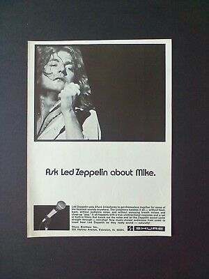LED ZEPPELIN...Shure Brothers Inc. Original Promo Poster Ad