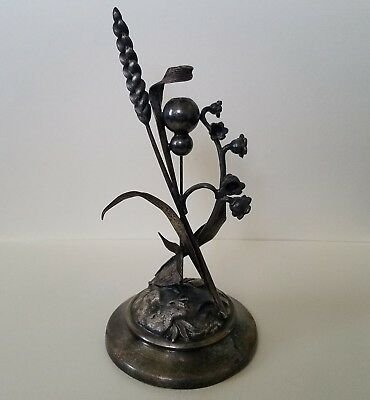 Antique Meriden Silverplate Figural Calling Card Tray Stand Base