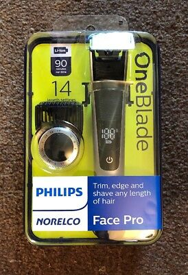 Philips Norelco Oneblade QP6520/70 Face Pro Hybrid Electric Trimmer & Shaver NEW