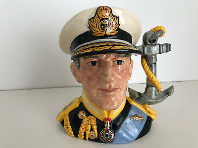 "Royal Doulton Earl Mountbatten Of Burma-Character Jug - Limited Edition"" D6944"