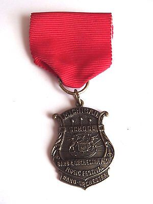 Vintage Michigan School Band & Orchestra ASSN Music Festival Medal