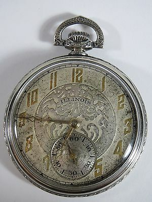 Antique 1927 Illinois 17 Jewel Pocket Watch Gold Filled. 4968688