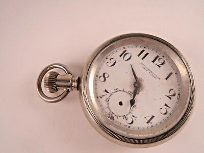 1870s German Silver Pocket Watch. Antique Hand engraved detail