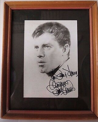 Jerry Lewis Autographed Picture Postcard Framed