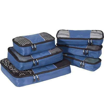 eBags Packing Cubes for Travel - 6pc Value Set - Denim