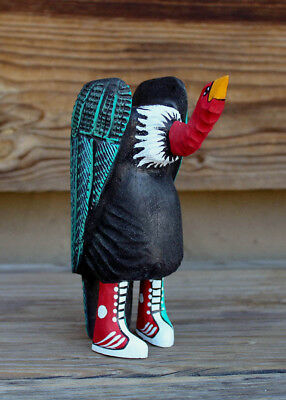 NAVAJO FOLK ART-VULTURE IN TENNIS SHOES by MATTHEW YELLOWMAN-NATIVE AMERICAN