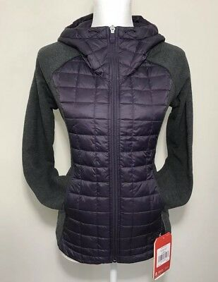 The North Face Women's Endeavor Thermoball Zip Up Jacket Purple Grey XS S M L XL
