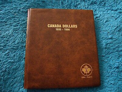 Lot of 56 CANADA 1 Dollars 1935 – 1986 UNI – SAFE Folder Album