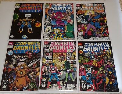 The Infinity Gauntlet Issues 1,2,3,4,5,6  Marvel Comics 1991  Very Fine Plus