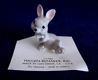 1986 HAGEN-RENAKER INC Bunny RABBIT Miniature FIGURE Thumper