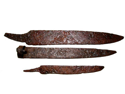 LOT OF 3pcs. ROMAN PERIOD IRON KNIVES, TOP CONDITION+++