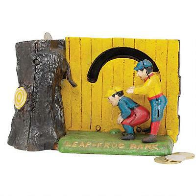 SP1681 - Leap Frog Collectors' Die-Cast Iron Mechanical Coin Bank