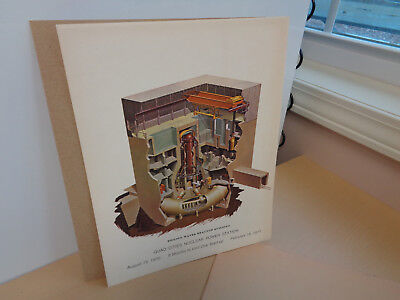 1970 Vintage Lithograph Print-Quad Cities Nuclear Power Station Pre-Start Up