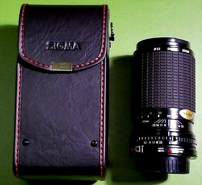 SIGMA ZOOM 52 F=80~200MM 1:4.5~5.6 MULTI-COATED CAMERA LENS For Canon