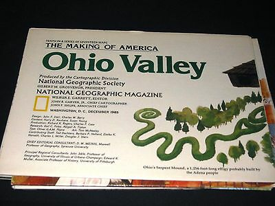 National Geo Map Ohio Valley December 1985 edition (275)