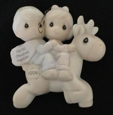 "1994 Precious Moments Ornament 'Our First Christmas Together"" Item # 529306"