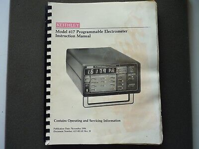 Keithley Model 617 Programmable Electrometer Instruction Manual Anleitung