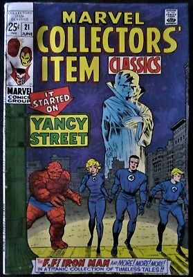 Marvel Collectors Item Classics #21 - FF, Iron Man, Dr. Strange- Silver Age