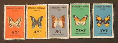 Senegal 1963 butterflies MNH Scott 221/6 HV set