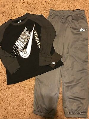 c02b3aef9a5 NIKE Boys Athletic Pants Loose Fit Gray   Long Sleeve Shirt Size 7 ...