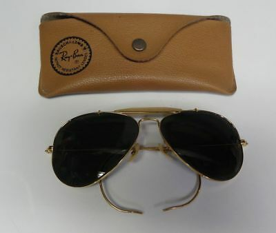 Ray Ban Aviator Sunglasses Outdoorsman Cable Wrap 58mm Bausch & Lomb B&L 1960's