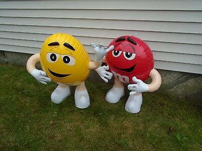 Rare Yellow & Red M&m Inflatable New