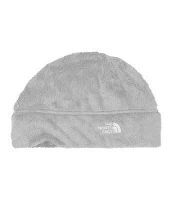 The North Face Denali Thermal Beanie High Loft Fleece Hat Grey White Red NWT New