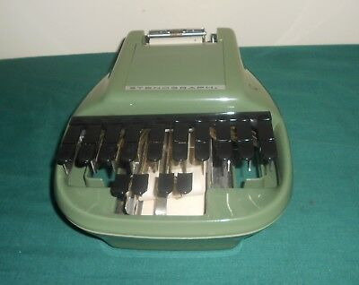 Vintage Stenograph Secretarial Model With Case, Tripod & Tripod Cover